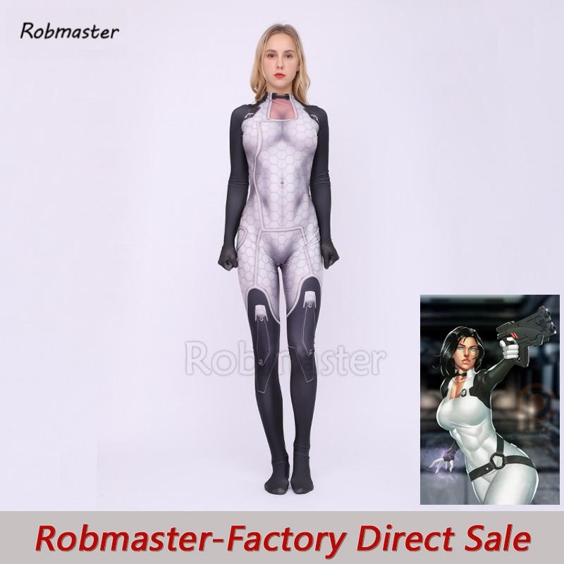 Massa efeito 3 miranda lawson cosplay traje elástico elastano me1 halloween zentai bodysuit meninas feminino jogo catsuit