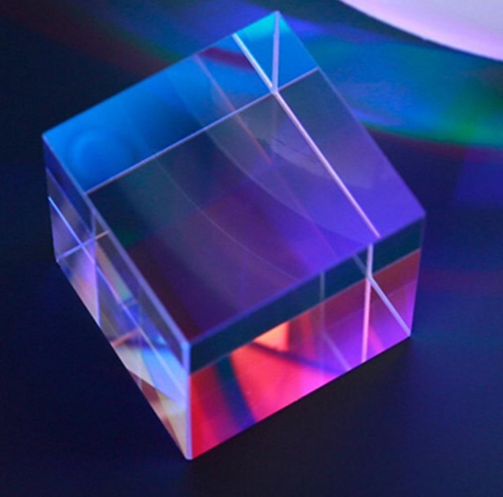 28*28*28mm divisor de haz de vidrio óptico Cruz dicroica x cubo Prisma
