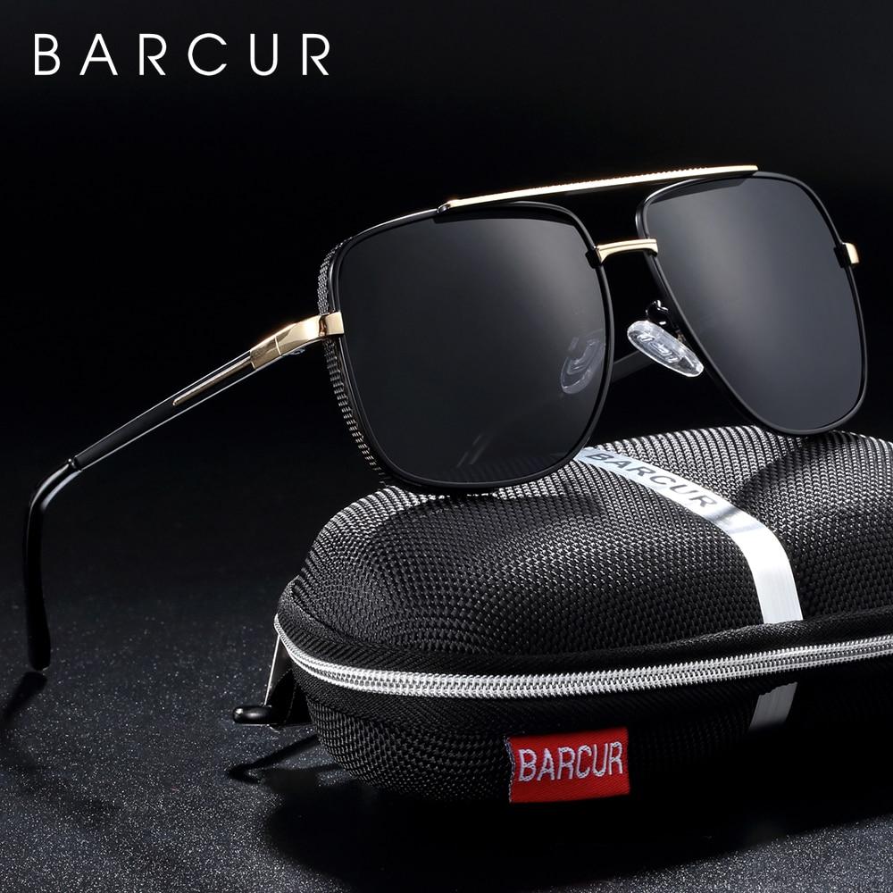 Gafas de sol polarizadas cuadradas BARCUR para hombre, gafas de sol de conducción de marca para hombres, gafas de sol