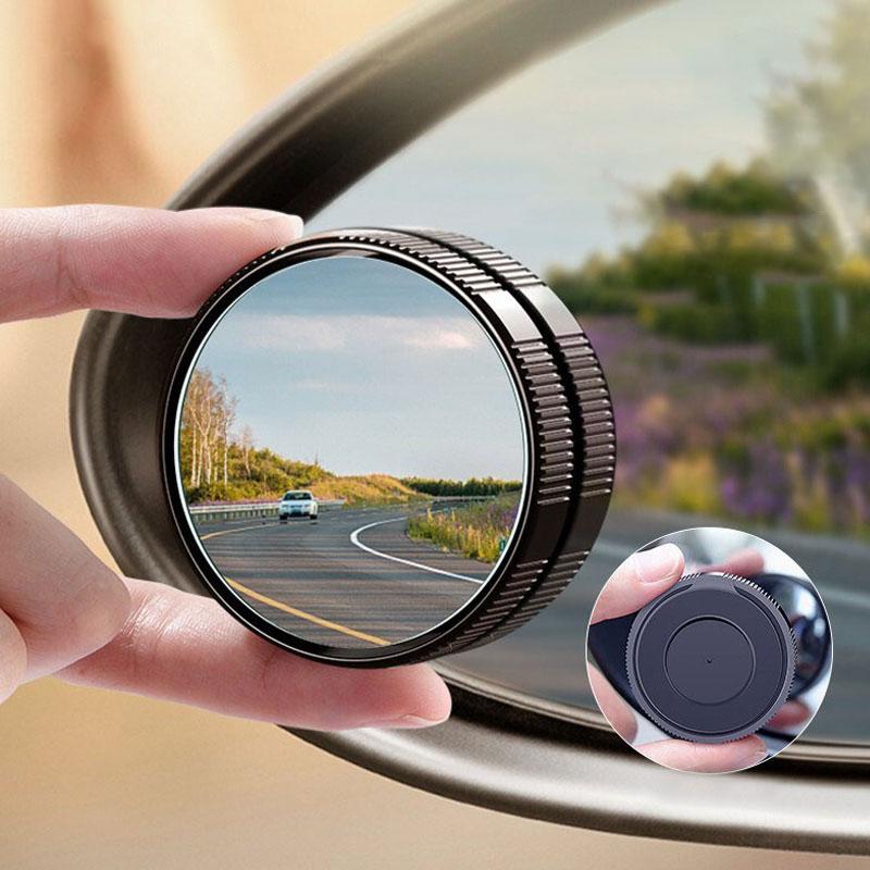 Автомобильное Зеркало, выпуклое зеркало HD для слепых зон, Автомобильное зеркало заднего вида с углом обзора 360 °, парковочные регулируемые з...