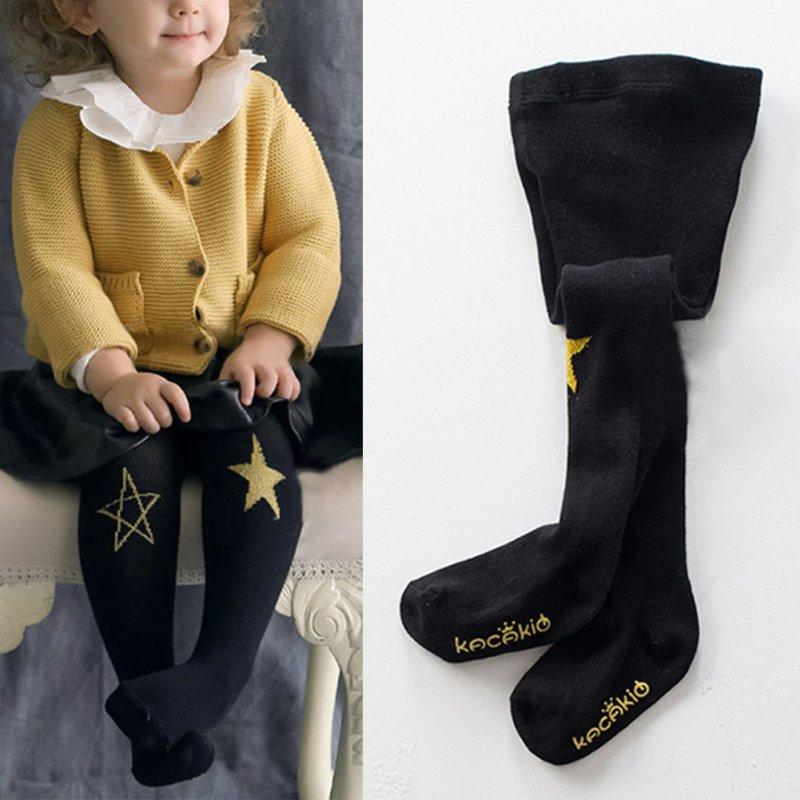 Повседневные Колготки для маленьких девочек, длинные штаны, носки, кронштейн для малышей, гетры, Длинные чулки с принтом звезды, носки для мл...