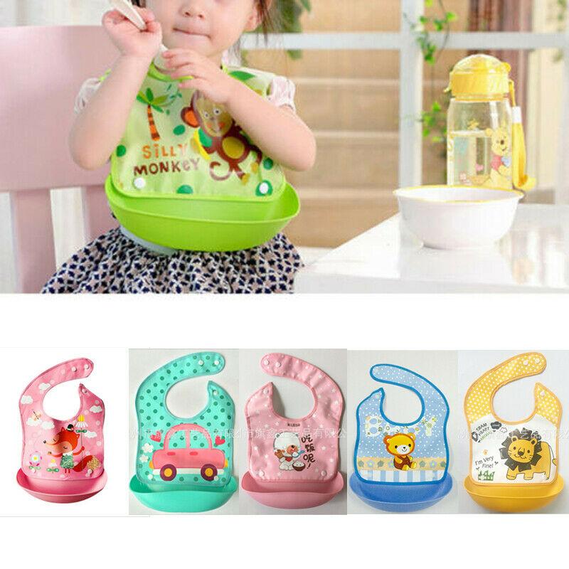 2019 accesorios de bebé Baberos Burp paños ropa nueva impermeable de silicona bebé babero lavable enrolladas Crumb Catcher de alimentación