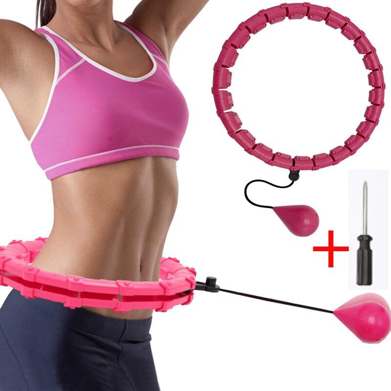 Умный Фитнес-обруч для упражнений на тонкой талии, съемные массажные обручи, фитнес-оборудование, тренажерный зал, домашние тренировки, пот...