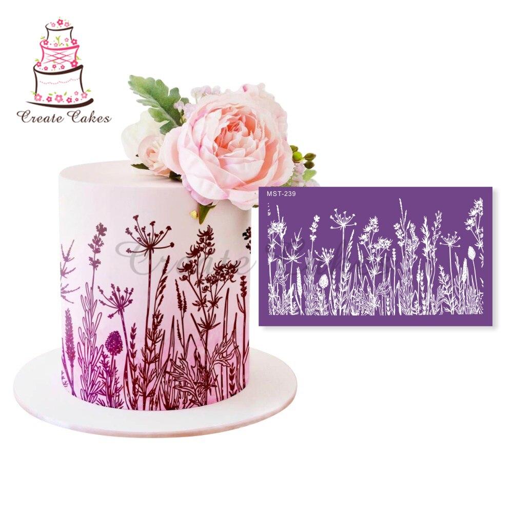 Трафареты для торта с одуванчиком, цветочные кружевные сетчатые трафареты для свадебного торта, трафареты для бордюра торта, форма для пома...
