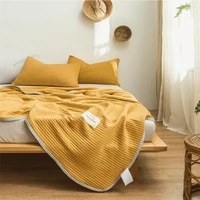 modal fabric summer cool quilted baby cover blanket single double simple solid color ice silk bed cover machine washable