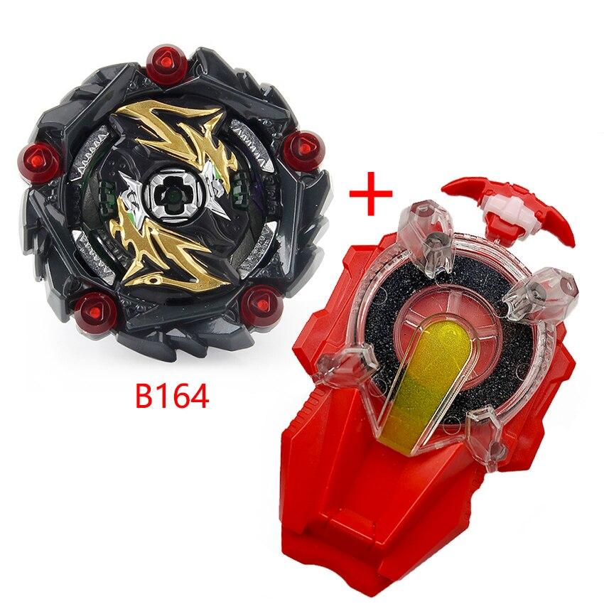 Todo modelo beyblades de ráfaga y juego de iniciador B-155 B-163 B-164 B-165 extragrande Beyblades chispa lanzador de metal Dios hoja de juguete