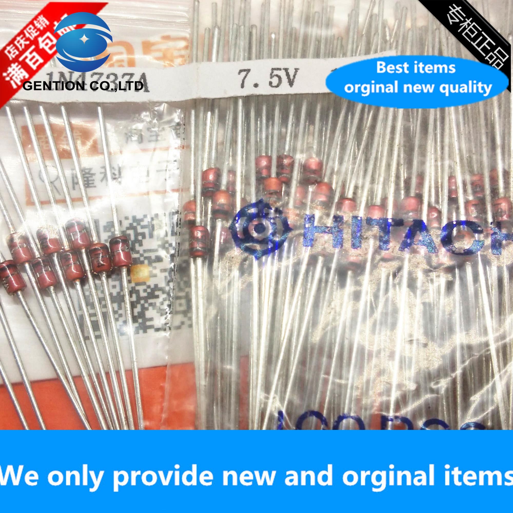 30 pces 100% original novo 1n4737a importado tensão estabilizador diodo 7.5v 1w in4737a em linha reta plug do-41 1n4737