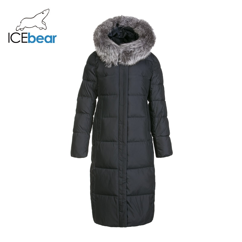 ICEbear 2019 new winter long women's cotton dress fashion warm women's jacket hooded brand women's clothing GWD19160I