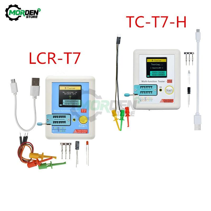 LCR-T7 TC-T7-H LCR-TC1 Multifunctional Diode Triode Capacitance Meter ESR TFT Backlight Transistor Tester LCR Meter Multimeter bside esr02pro digital transistor tester smd components diode triode resistance capacitance inductance multimeter esr meter