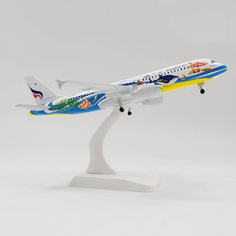 Juguetes de modelo de aleación para Airbus A320 NEO DELTA de Boeing Airlines, avión de pasajeros, Avión de Transporte 1 300 a escala 20CM