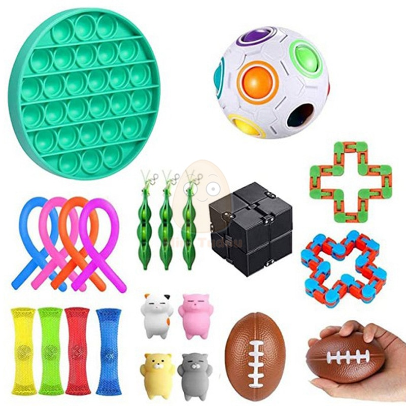 Fidget Toy Funny Anti Stress Sensory Autism Anxiety Relief Plastic Cute Strings Mesh  Antistress Kit Toys For Adult Childrens enlarge