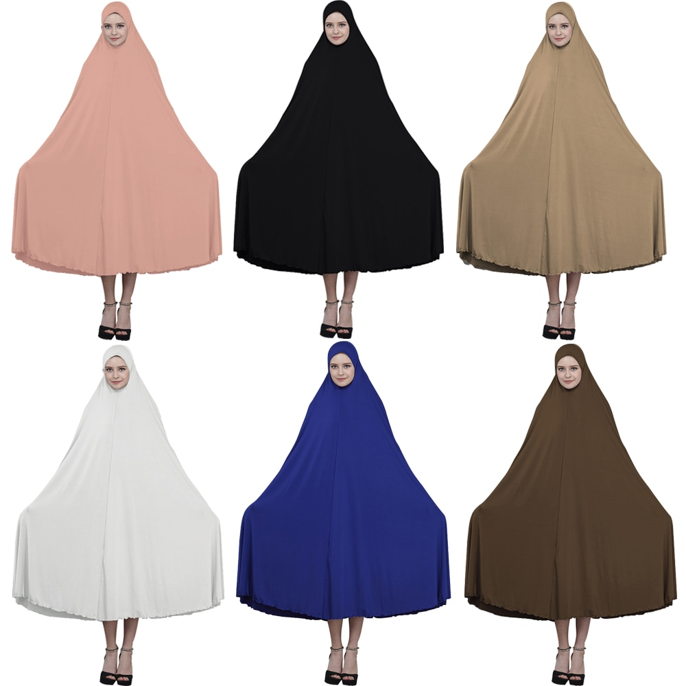 Vestido de oración para mujer, vestido islámico Ramadán musulmán, vestido Maxi, Túnica, cubierta completa, Abayas Kaftan, Oriente Medio, Burka Hajj Thobe