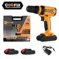coofix 16v 18v electric lithium battery drill household cordless drill electric screwdriver mini wireless power driver tools