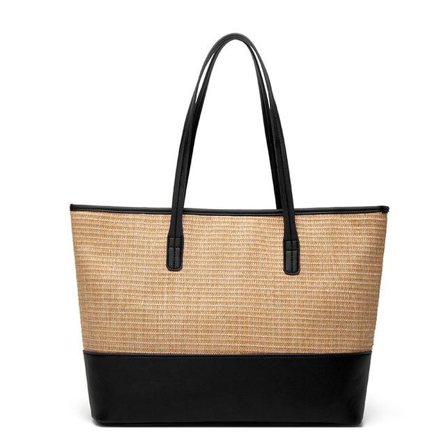 Women\'s Bag European and American Fashion Beach Bag Straw Bag Simple Shoulder Bag Cross-Border One 4