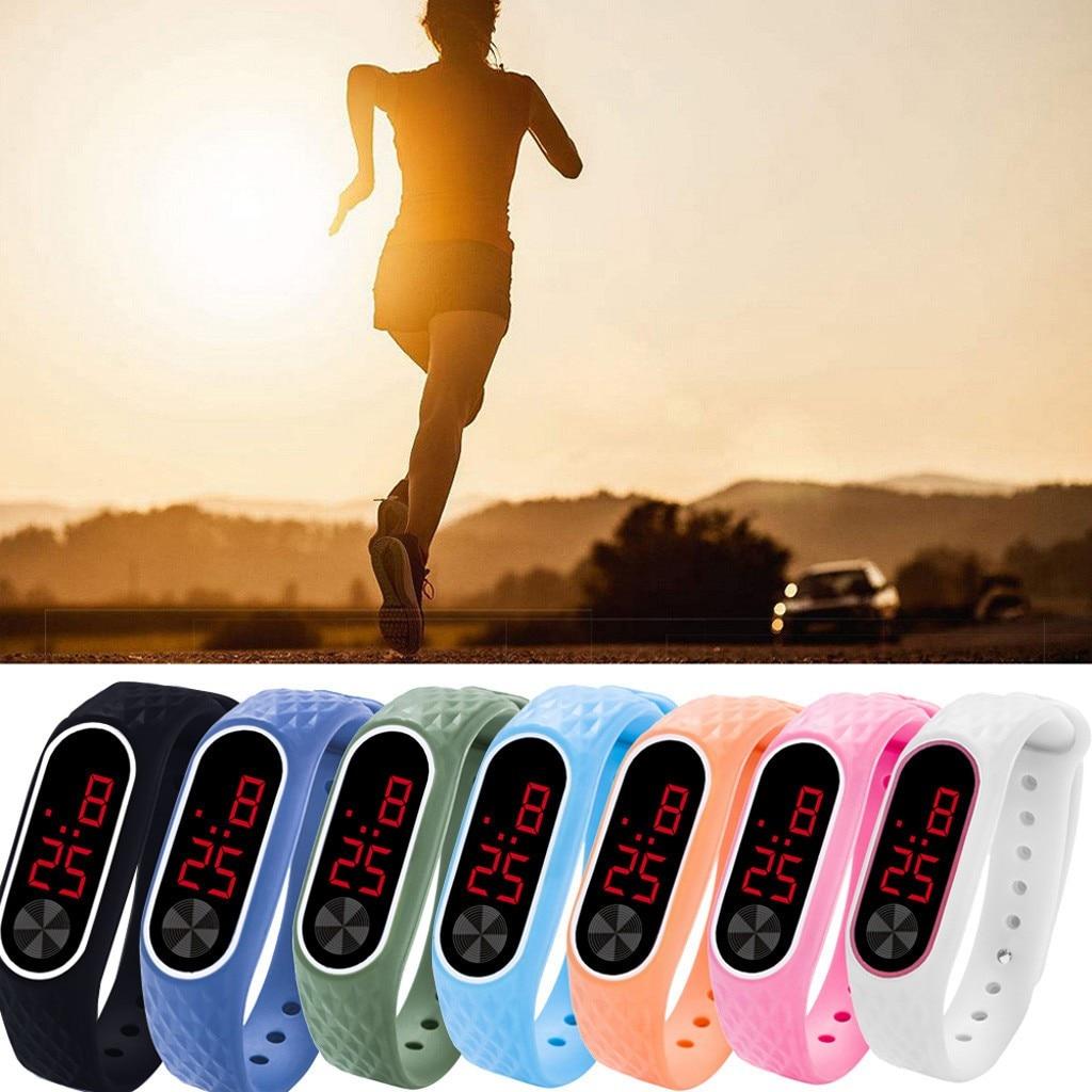 Reloj Digital deportivo Reloj Unisex elegante Reloj LED de Gel de sílice relojes de pulsera electrónicos de ejercicio anillo de mano Horloge Heren 40 *