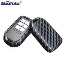 Car Key Case Protection Covers Carbon Fiber Lines holder Car Styling Accessories For Honda Civic Acc