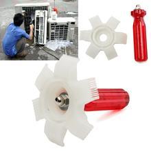 Redresseur daileron de radiateur   Peigne de radiateur, évaporateur outils de climatisation automobile voiture plastique A/C condensateur redresseur daileron, nettoyeur de râteau pièces dinstallation