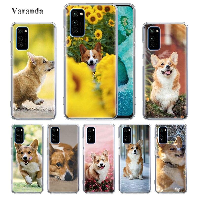 Funny Dog Cute Corgi Tpu Case For Huawei Honor 9X 8X 9A 9C 9S 20e 10 Lite 10i 20S 8A 2020 Y9 Y7 Y6 2019 Y8p Cover Caso