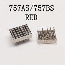 10 pièces x LED affichage matriciel 5x7 1.9mm Anode commune rouge/affichage de LED cathodique commune 757AS/757BS