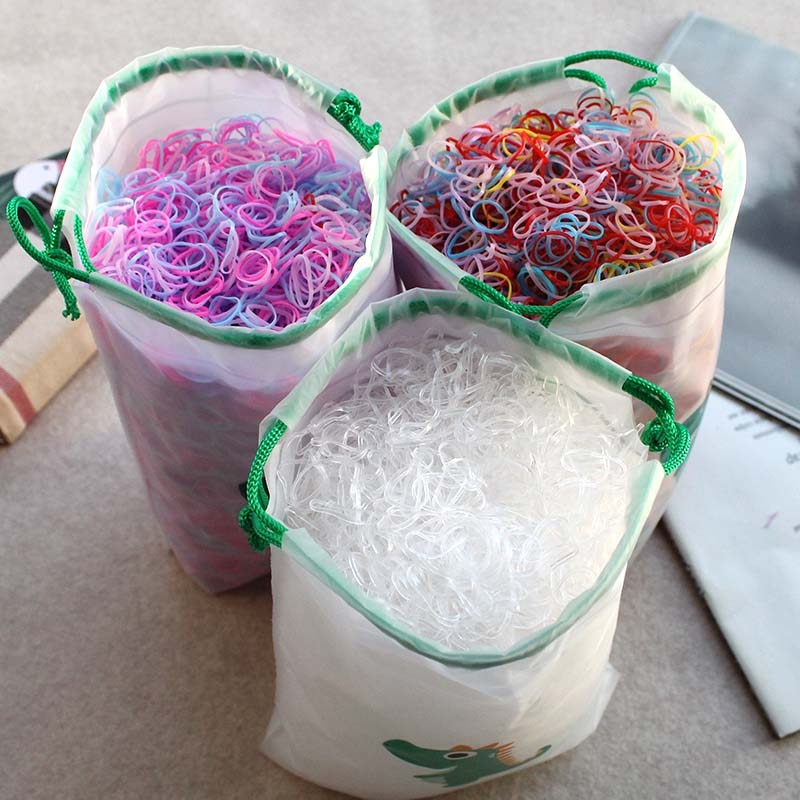 1pc colorful little girl hair rope ribbon bows elastic hair rubber bands kids ponytail holder children hair accessories ties gum 2000pcs Girls Hair Accessories nylon ties Elastic Hair Bands Children Ponytail Holder Rubber Bands Kids Headband gum for hair