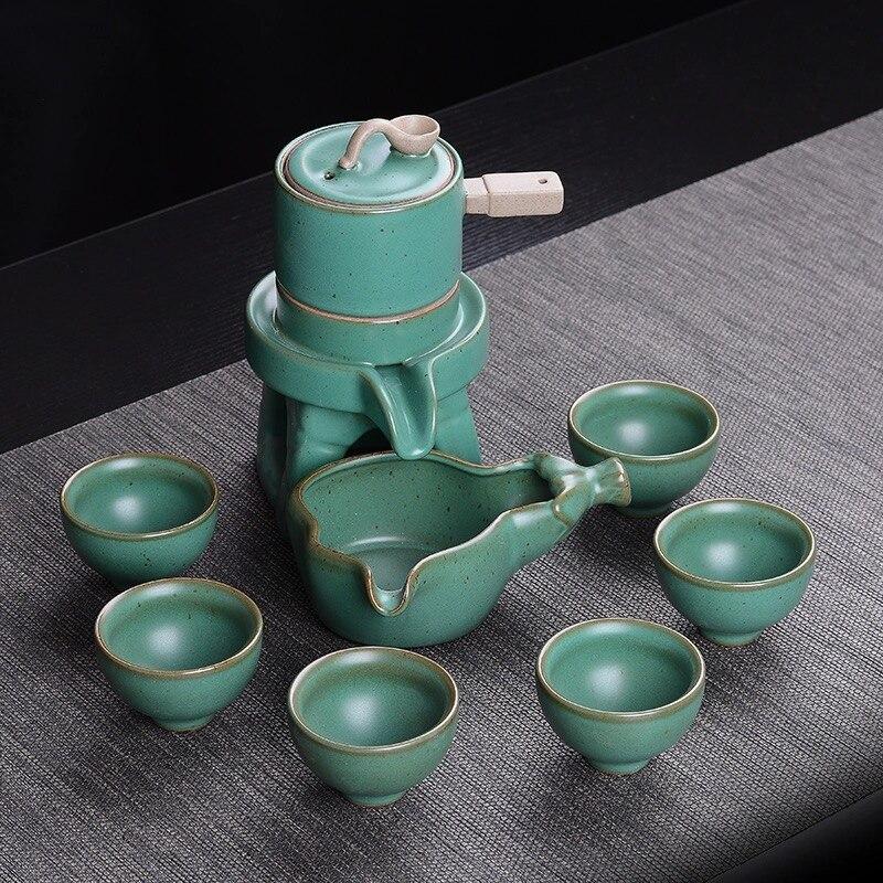 9 قطعة التقاليد إبريق الشاي السيراميك الشاي مجموعة فنجان الأخضر الشاي الأسود مجموعة الصينية الكونغ فو الشاي الخزف المياه الزجاج
