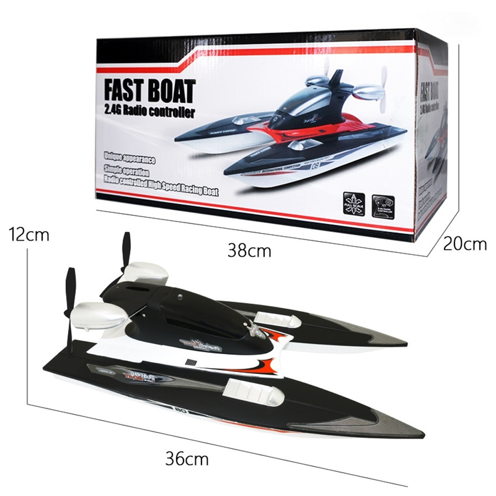 FY616 RC Boat 2.4GHz 35km/h High Speed RC Racing Boat Velocity Remote Control Boat Toy for Kids and Adults enlarge