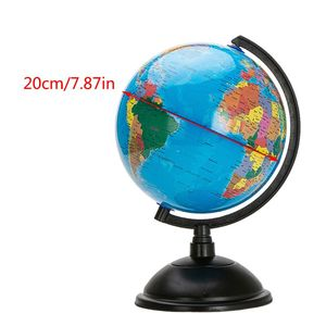 360 Degree Rotation 7.87in English District Globe with Stand Geography Teaching Globe Children Discovery World Ball Educational