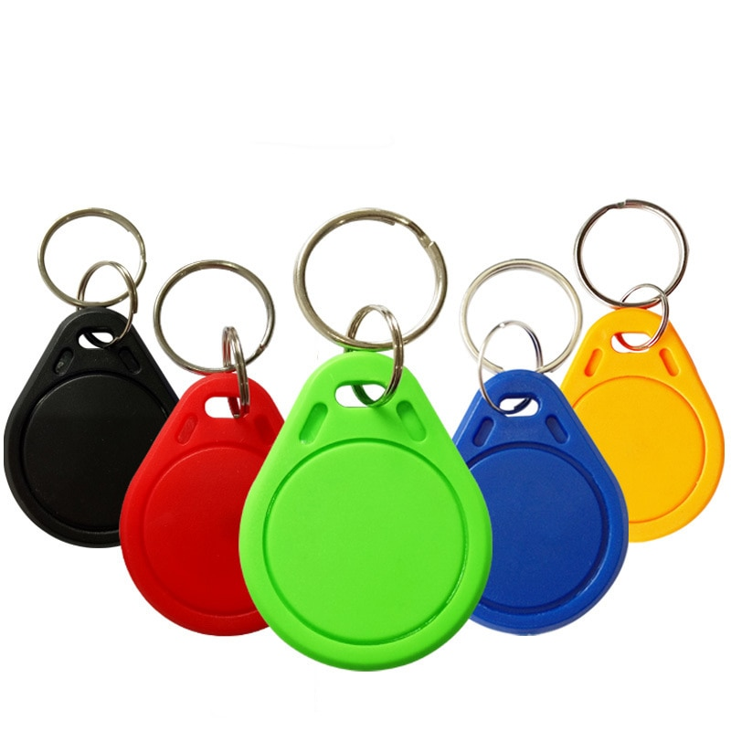 10pcs/Lot 13.56MHZ keychain card Smart elevator ID keychain card TK4100 chip Small  portable For Access Control System Keyfobs