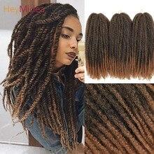 Capelli Marley per twist 18 pollici lunghi Afro crespi trecce Marley capelli Kanekalon sintetico Marley trecce estensioni dei capelli Heymidea