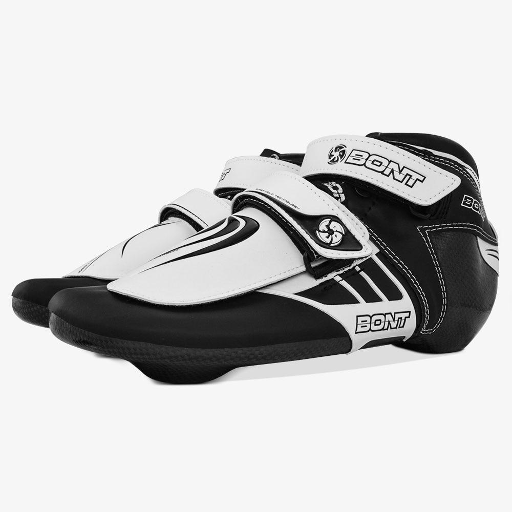 Original Bont Kurze Track boot ST Z Boot Geschwindigkeit Eis Inline Skate Boot Heatmoldable Carbon Faser Competetion Rennen Skating Patines