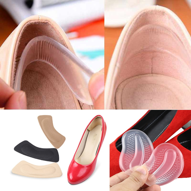 7-1Pair Shoes Insoles Silicone Forefoot Pads Insoles Inserts Anti-Slip Cushion Gel Pad Orthotics Half Yard Insoles Shoes Sticker
