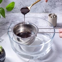 long handle chocolate pot wax melting stainless steel pan diy scented candle soap chocolate butter cheese milk handmade tool