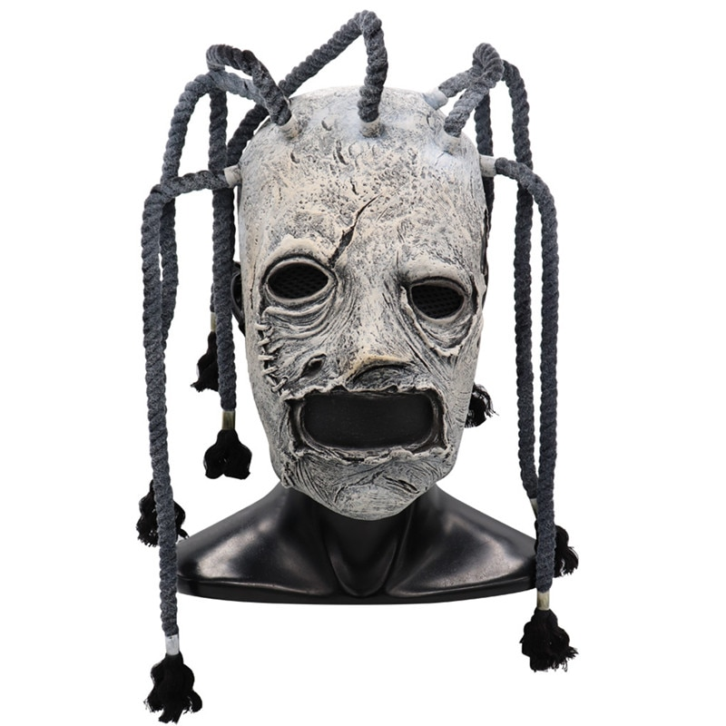 Slipknot Corey Taylor Latex Mask Dreadlocks Cosplay Masks Fancy Dress Halloween Prop