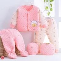 jchao kids 2021 autumn baby boy girl clothes long sleeve top pants 5pcs sport suit baby clothing set newborn infant clothing