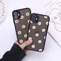 pretty flower phone case for iphone 12 mini 11 pro x xs max xr 8 7 6 6s plus hard matte back cover fundas