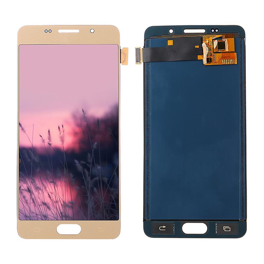 Регулируемая яркость для Samsung Galaxy A5 2016 LCD A510 SM-A510F A510M A510FD ЖК-дисплей и кодирующий преобразователь сенсорного экрана в сборе
