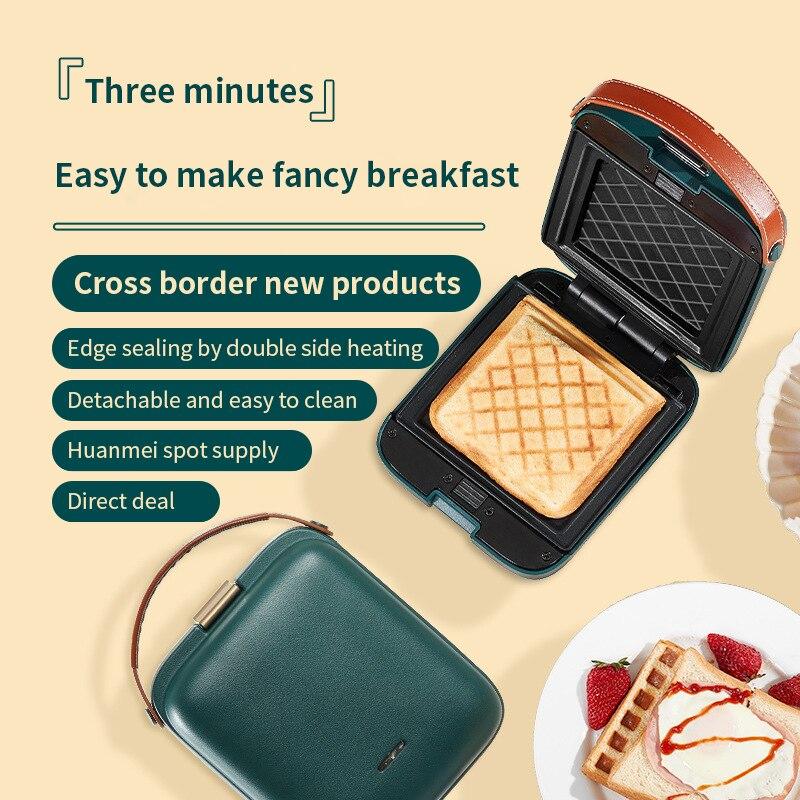 Sandwichera eléctrica desayuno 3 minutos rápido desayuno Waffle Maker tostadora herramientas para...