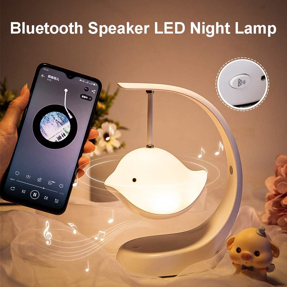 الإبداعية ديكور المنزل سمّاعات بلوتوث 7 اللون تغيير USB قابلة للشحن لطيف لعبة الطائر المحلق LED الموسيقى ضوء الليل مصباح