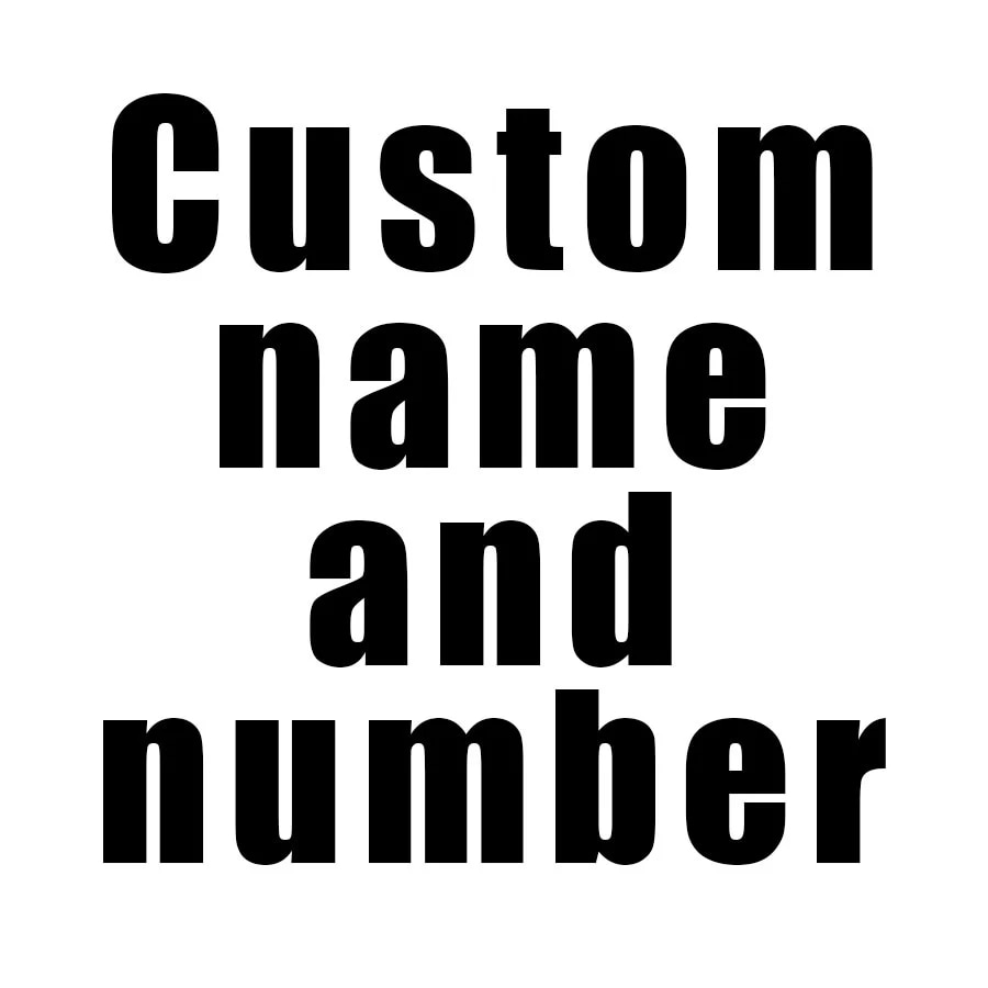Custom name and number