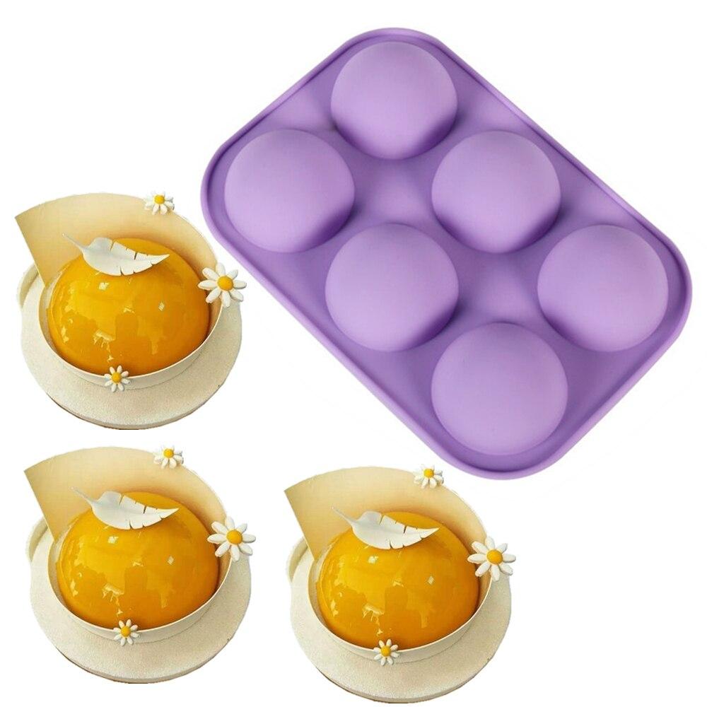 Molde para pastel de tipo mousse 3D pequeña forma de Hemisferio moldes de silicona para hornear esponja de postre de mousse moldes de pastel de grado de alimentos