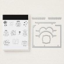 Jeux de matrices de découpe en métal   Motif de cœur de amour pour Scrapbooking, pour faire soi-même des cartes, pochoirs dartisanat de coupe, 2019