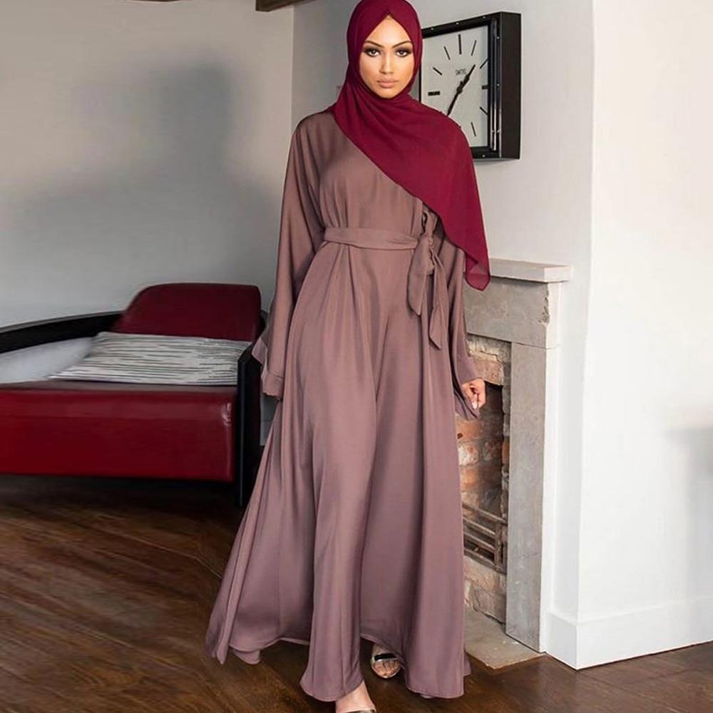 Dubai Abaya Turquía Moda musulmana Vestido Hijab Kaftan ropa Islam Maxi vestidos...