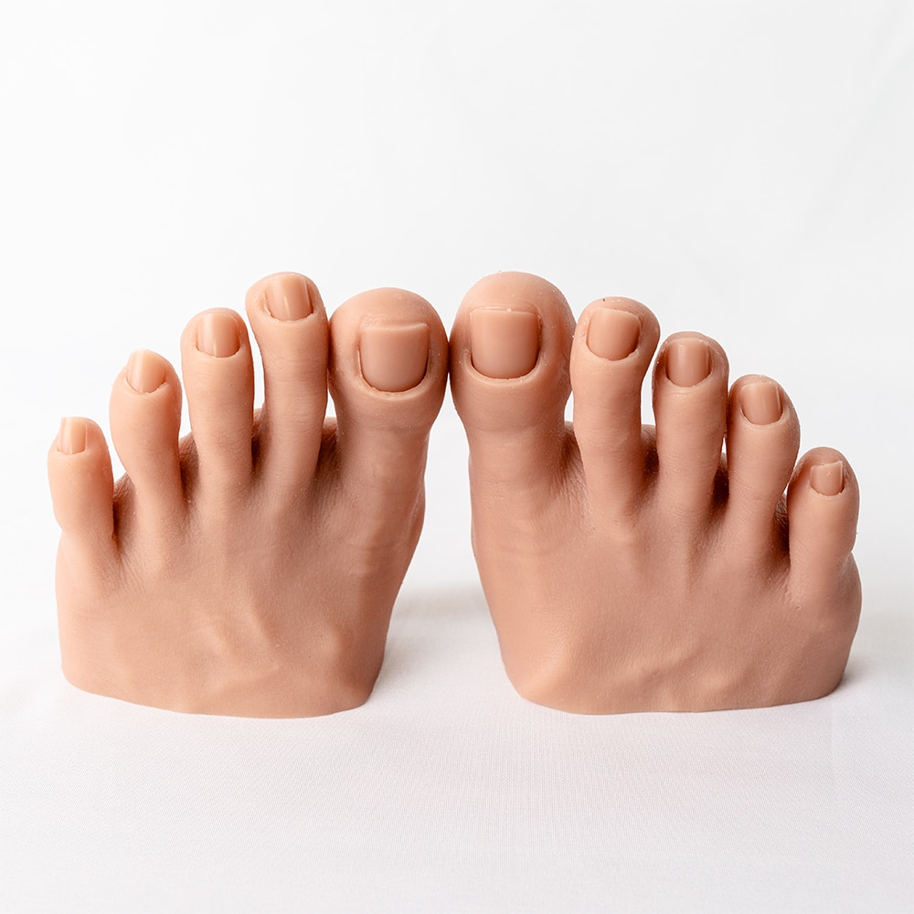 Silicone Fake Feet Model Foot Hand Nail Art Tools Display Practice Female Mannequin Training Flexible Fingers Adjustment