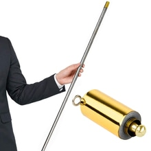 110CM Stainless Steel Toy Stage Appearing Cane Portable Magic Wand Telescopic Sticks Professional Lightweight Funny Trick Prop