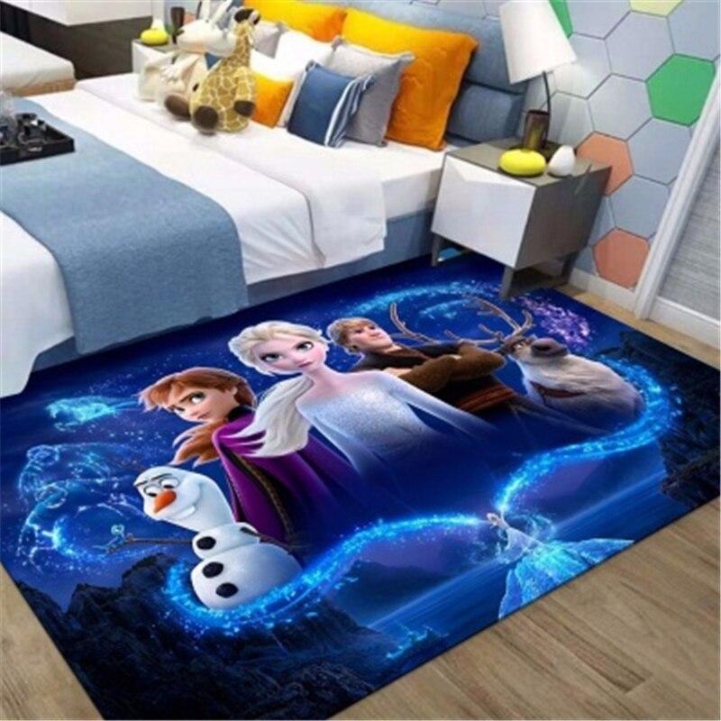 Детский игровой коврик 80x160 см Frozen2, напольные коврики для девочек, нескользящий коврик для гостиной, впитывающие моющиеся коврики для зоны, ...