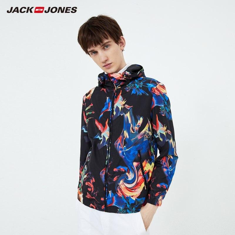 جاكجونز جاكت رجالي مقاوم للرياح بقلنسوة ألوان متنوعة نمط مموه جاكت رجالي | 219321540