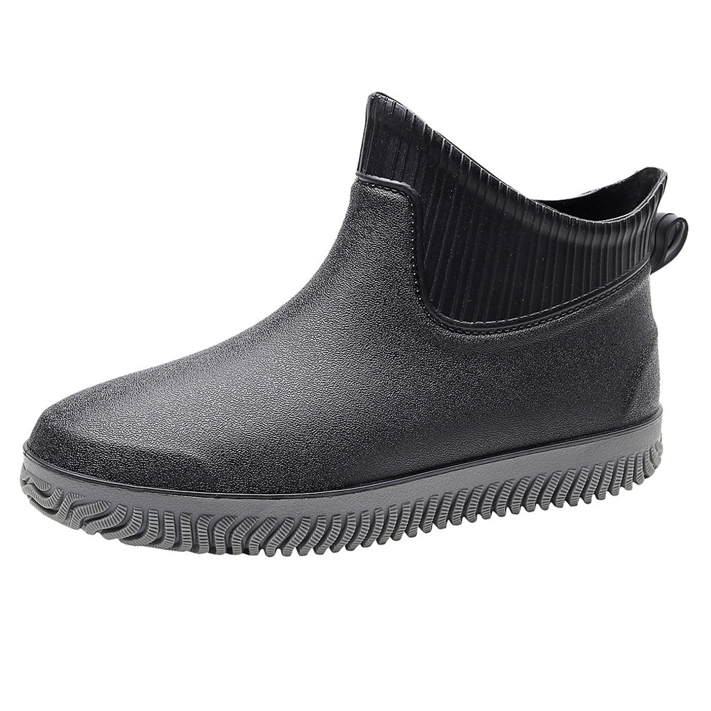 SAGACE rain boots men Short Tube Non-Slip Waterproof winter boots men shoes Slip-On Rain Boots Fashi