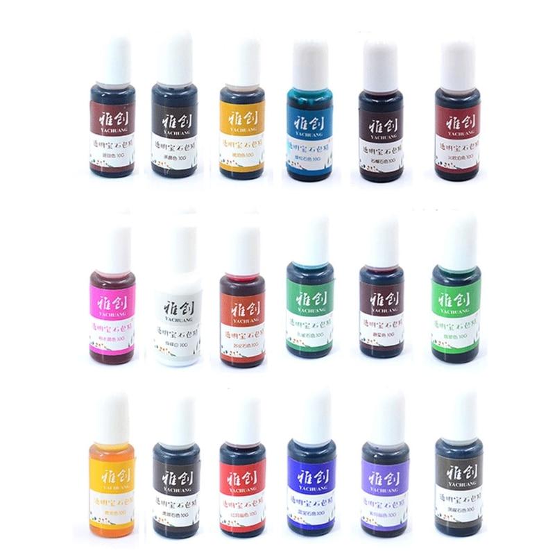 10 colors uv resin solid pigment kit poxy resin liquid colorant dye jewelry diy u4le 18 Colors Epoxy Resin Pigment Liquid Resin Colorant Pigment Resin Colorant Dye Resin Jewelry Making Art Crafts Tools