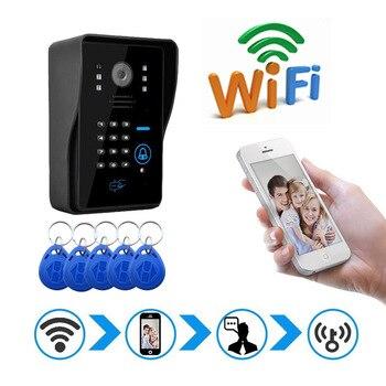 1080p Wireless WiFi Video Door Phone Doorbell IP Intercom Camera Door Bell For Villa Factory Entry Unlock Access Control System