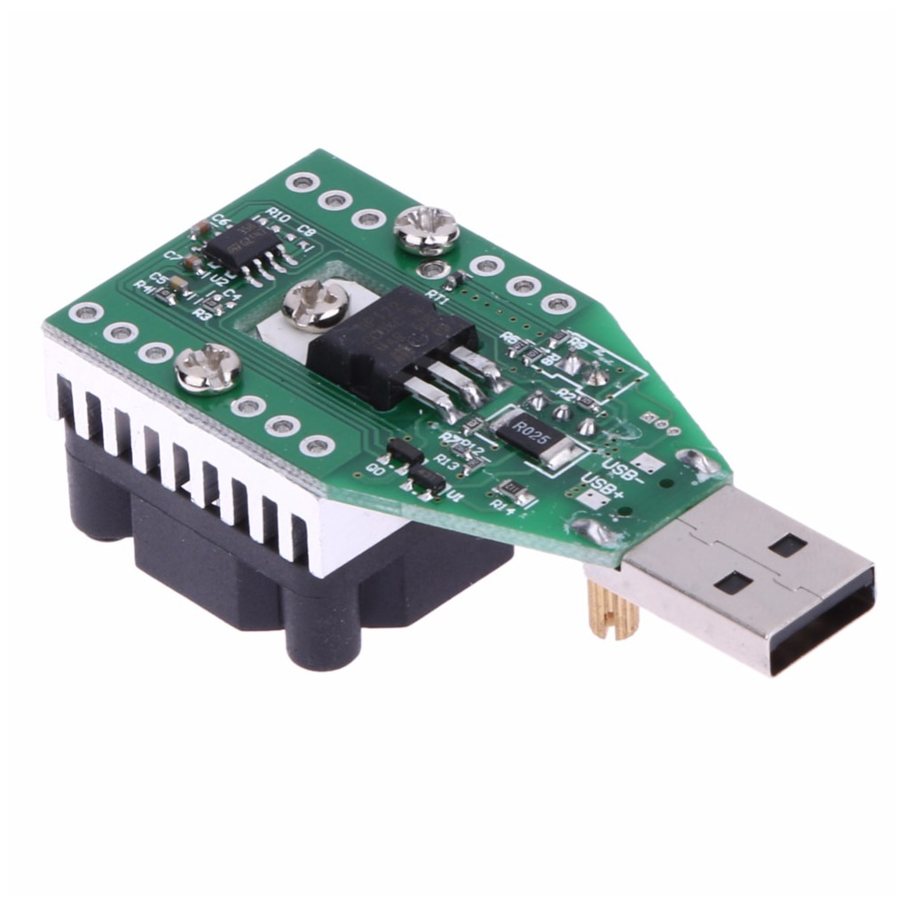 New DC 3.7~13V USB 15W Adjustable Constant Current Electronic Load Discharger 1pc